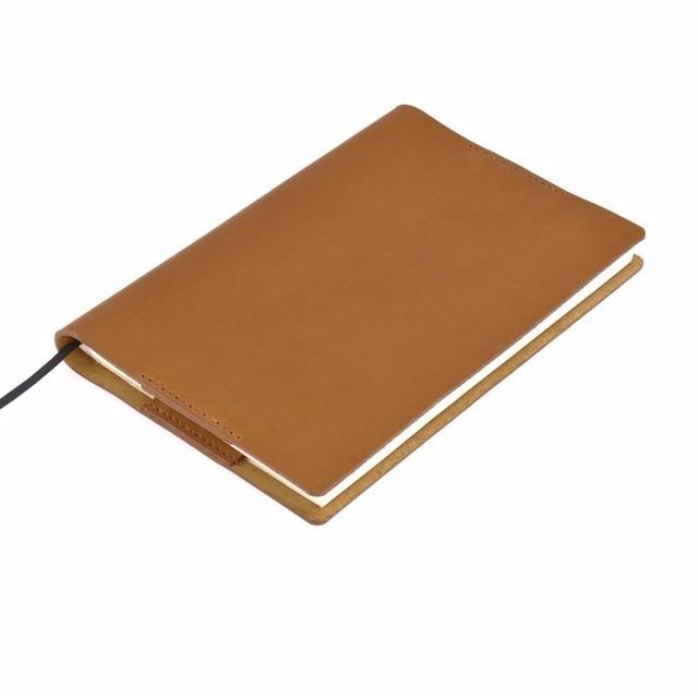 Винтажная Подлинная кожаная записная книжка календарь, чехол А5 А6 размера, защитный чехол для журнала ручной работы, органайзер для набросков из воловьей кожи