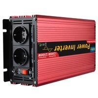 Soft Start Peak 2500W 1200W Pure Sine Wave Solar Power Inverter DC 12V To AC 220V