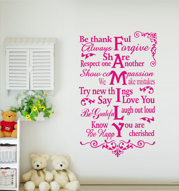 Free Shipping Large Size House Rules Be Thankful Always Forgive ...