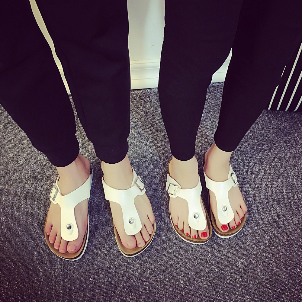 8b97c4233 Men summer shoes plus size 35 44 leisure cork slippers fashion couple  slippers flip flops comfortable footwear sandals-in Slippers from Shoes on  ...