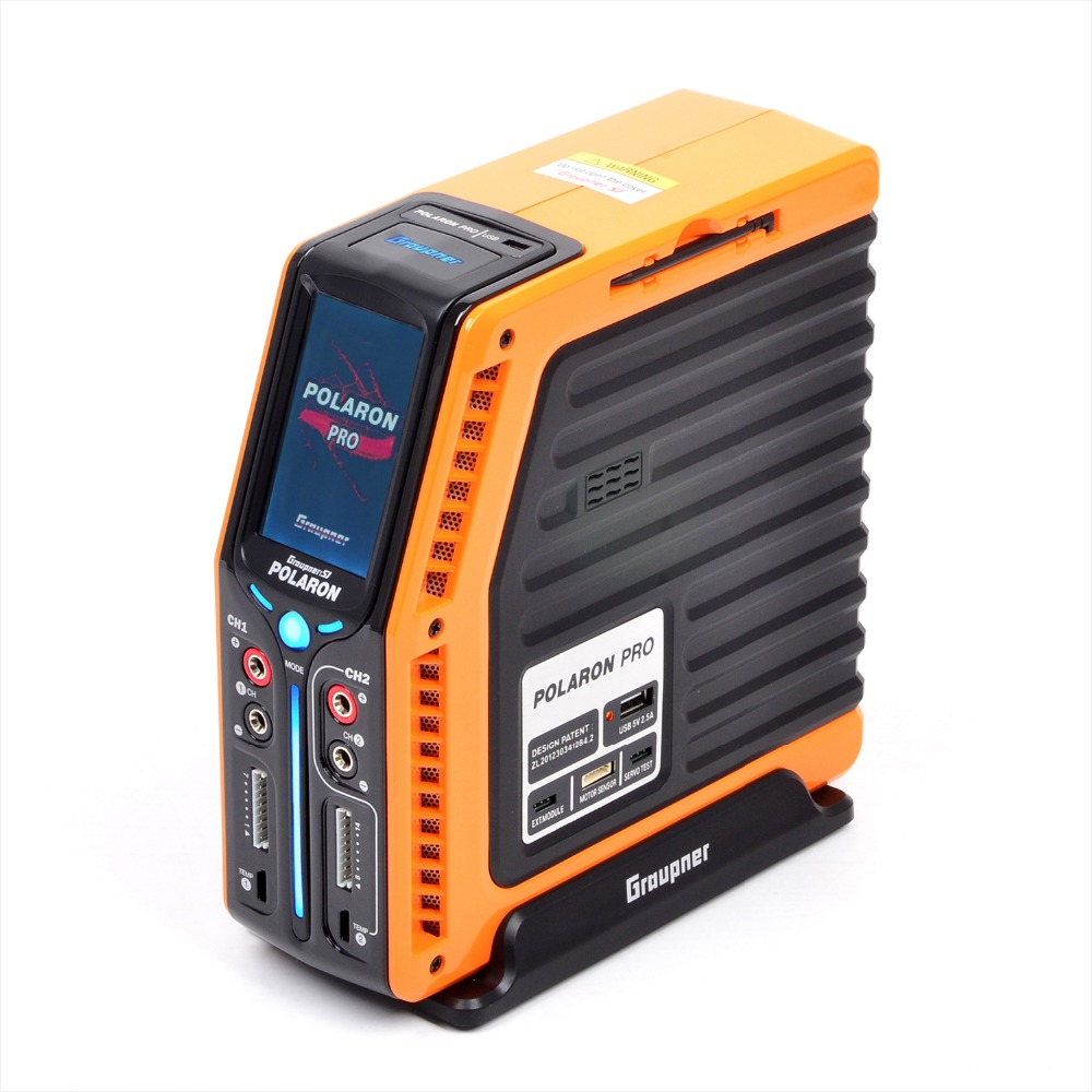 Graupner Polaron PRO 1CH:500W 14S, 2CH:30W NiMh - NiCd 3 Color and Touch TFT (Orange) graupner des 708 bb mg