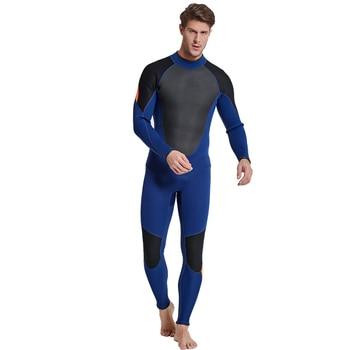 Men's 3mm Full Surfing Suit Scuba Diving Snorkeling Swimming Jumpsuit Neoprene Wet Suit 3mm Full Body Diving Suit One-Piece
