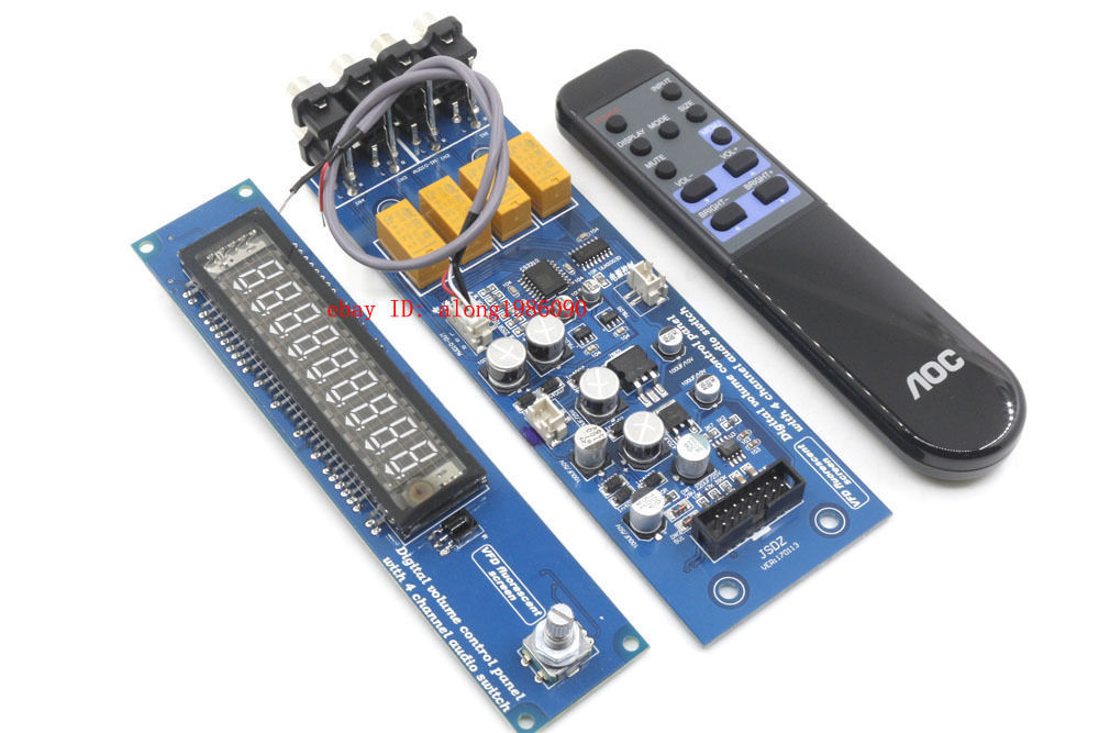 Assembeld CS3310 Remote Preamp Board With VFD Display 4 Way Preamplifier Board cs3310 remote preamplifier board with vfd display 4 way input hifi preamp remote control digital volume control board page 3
