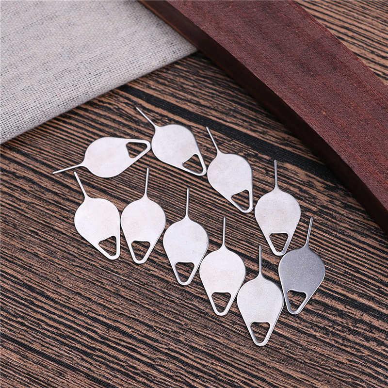 10 pz/set per Rimozione Sim Card Tray di Espulsione Strumento Chiave di Pin Ago In Acciaio Inox per il iPhone iPad Samsung per Huawei xiaomi