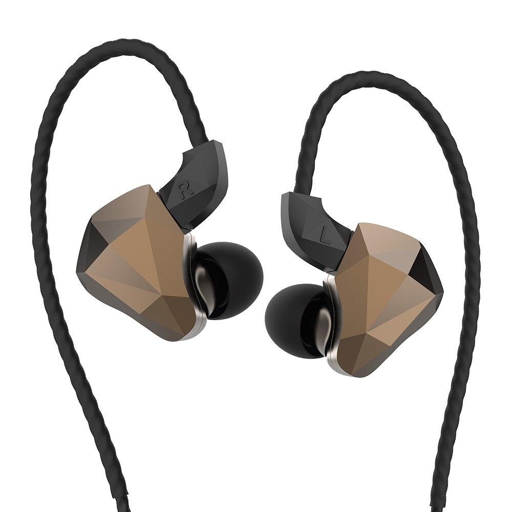 Yinyoo TOPAZ 4BA + 1DD 10MM Bio-diaphragme personnalisé alliage pilote dynamique hybride dans l'oreille écouteur HIFI DJ moniteur écouteurs écouteurs