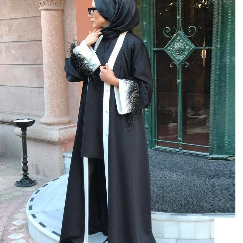 Evening Dresses Creative Elegant Arabic Evening Dresses 2018 High Neck Long Sleeve Dubai Kaftan Abaya Evening Dress 2018 With Lace Beads Vestido Longo Bright Luster