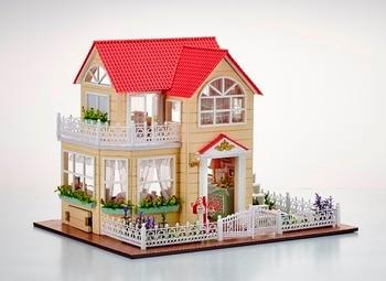 Handmade Princess House Doll House Furniture Miniatura Diy Doll Houses Dollhouse Wooden Toys Children Christmas Gift