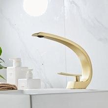 Матовый золотой латунный Смеситель для ванной комнаты смеситель