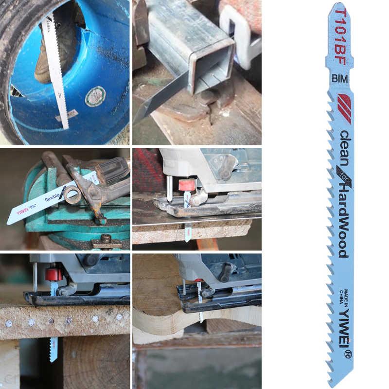 5 Pcs T101BF Bi-metall T-Schaft Jigsaw Klingen Schneiden Werkzeug Reinigen Für Hartholz