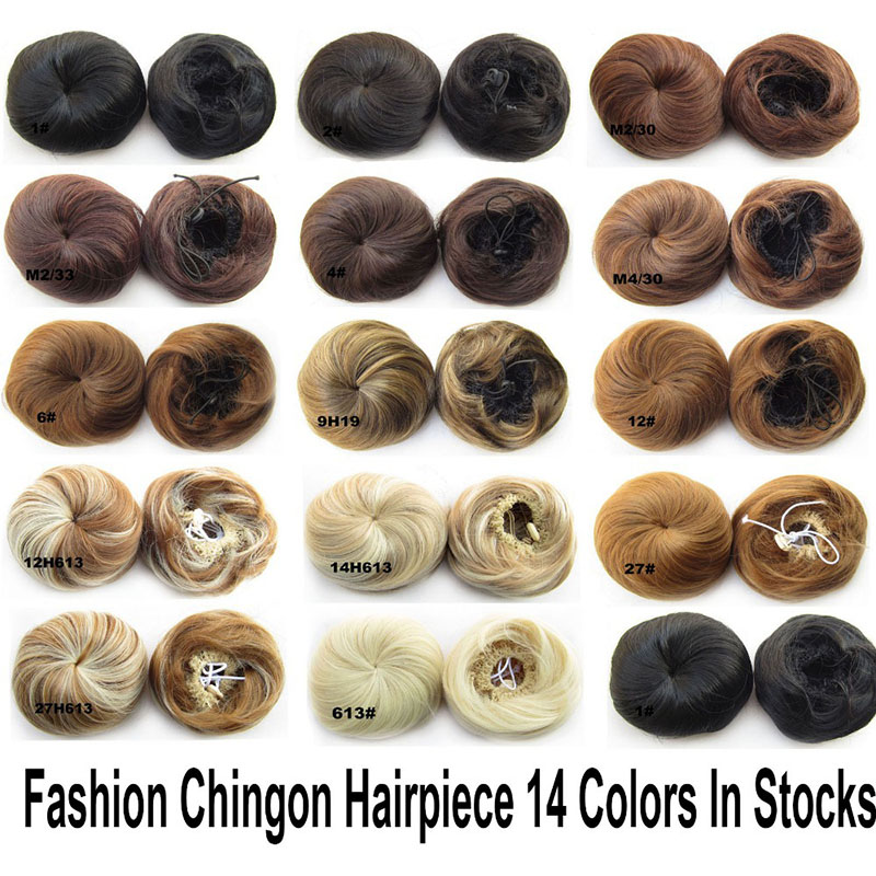 1 pc livraison gratuite synthtique lastique de cheveux de marie 613 bun perruque cheveux chignon - Postiche Chignon Mariage