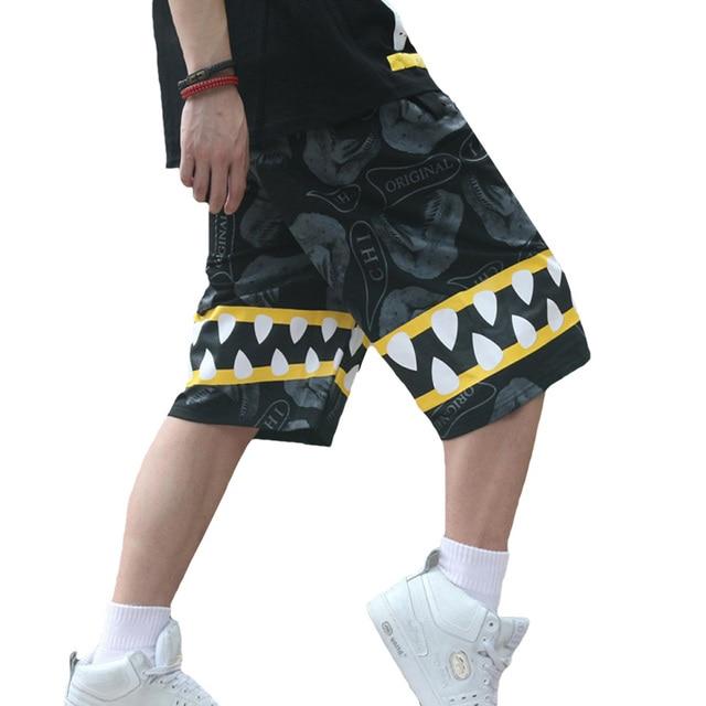 Long Shorts Men Hip Hop Casual Plus Size Gasp Mens Summer Baggy Short Jogger Harajuku Bermuda Fashion Shark Boardshorts Men 6D01