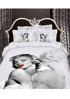 3D Bedding Set Bedclothes 4pcs 1 Duvet Cover 1 Bed Sheet 2 Pillowcases 100 Cotton Bedding
