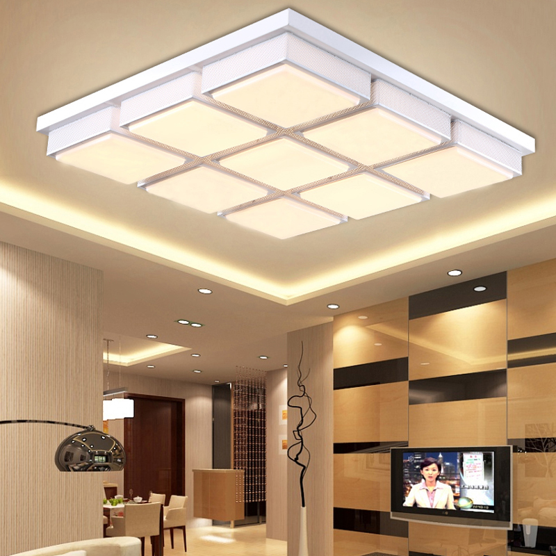 New Shop Promotion Modern Led Acrylic Ceiling Light For Living Room Bedroom Indoor Decor Lighting Fixtures