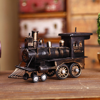 Antique Imitation Collection Decorative Model 1947 Steam Train Engine Diecast Locomotive Home Decor Birthday Christmas Gifts