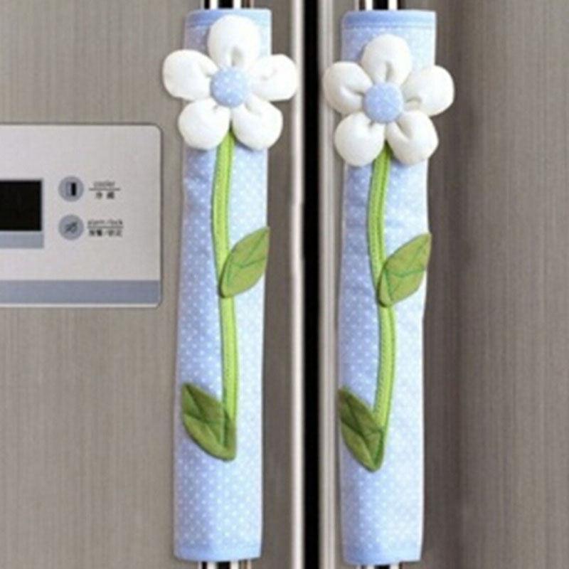 Buy 2pcs pastoral flower polka dot door for International home decor stores