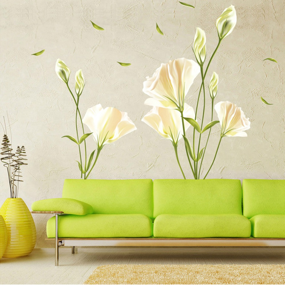 Aliexpress.com : Buy Modern Creative Removable Lily Flowers ...