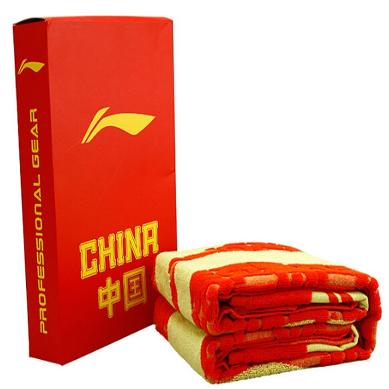 Li-Ning Sports Towel Super Big 100% Cotton Gym Bath Bathroom Towels for Men and Women Badminton/Swimming Sweat Absorb L631 original li ning men professional basketball shoes