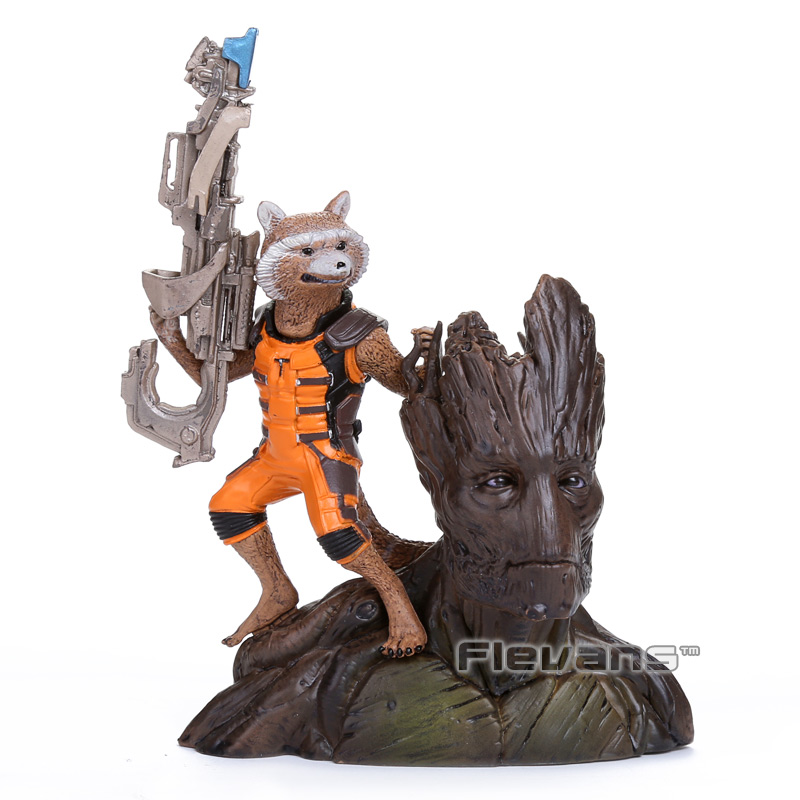Guardians of the Galaxy Groot Rocket Raccoon PVC Action Figure Collectible Model Toy 14CM