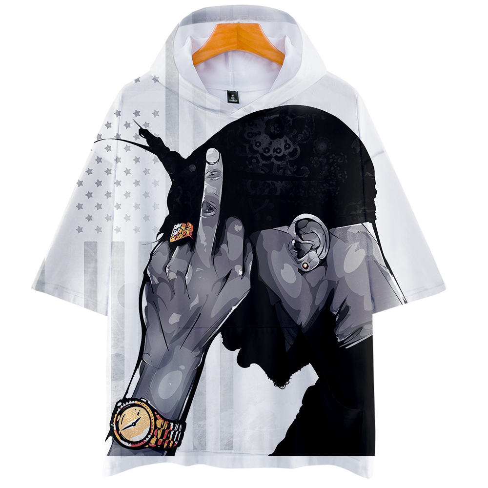 2019 New Rapper 2pac 3D print pop summer short slleve Men/Women summer Harajuku software Short Sleeve Clothes plus size 4XL image