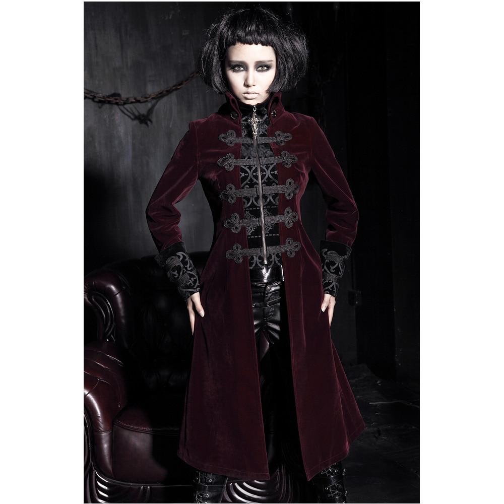 Mode Gothique Punk Femmes Streampunk Veste Manteau À Capuche Militaire Noir Cosplay tenue Y401
