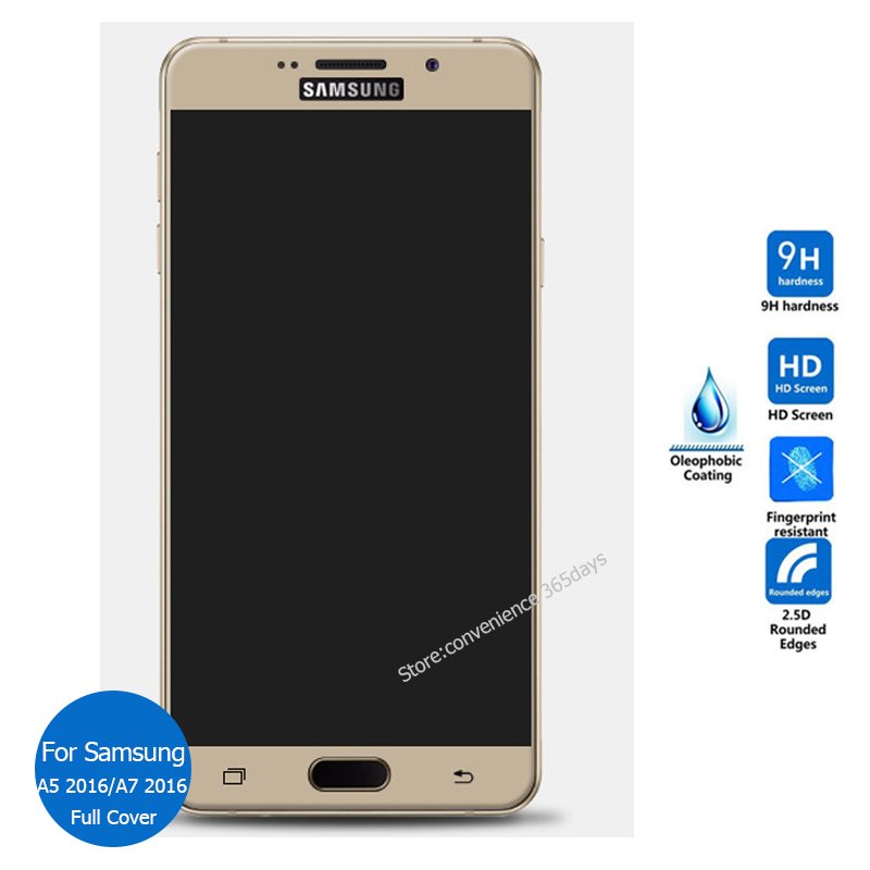 For Samsung Galaxy A5 A7 2016 Full Cover Tempered Glass ...