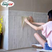 0.7x0.7M Wood Grain Self Adhesive 3D Wallpaper Soft Package Kids Room Kindergarten Walls Decoration Waterproof Foam Wall Sticker