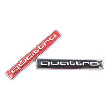 3D Car metal Quattro Logo Sticker Badge Chrome Emblem Accessories for Audi A5 A6 A7 A8 S3 S4 S5 S6 Q5 Q7 TT R8 RS car styling