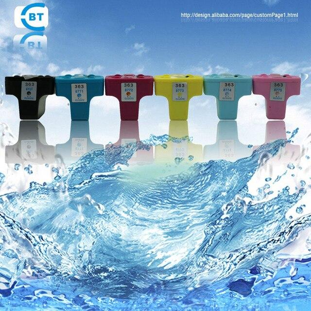 6PCS compatible hp363 ink cartridge suitable for D7300/D7100/D6100/C7100/C6100/C5100/C8200/C3100 printer