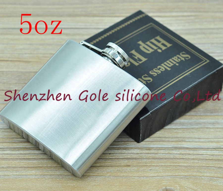 200pcs 5oz Stainless Steel Pocket Flask Russian Hip Flask Male Small Portable Mini Shot  ...