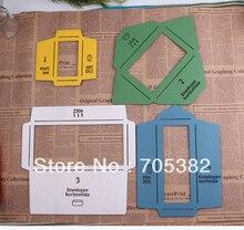 新しい木製の封筒テンプレートマニュアルステンシル金型メイク 4 異なるサイズ envenlops 、卸売 (ss 5929)