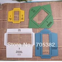 1set New Wooden Envelope Template Manual Stencil Mould Make 4 different Sizes Envenlops (ss-5929)