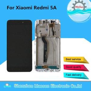 """Image 1 - Orijinal M & Sen 5.0 """"Xiaomi Redmi 5A LCD ekran ekran + dokunmatik Digitizer çerçeve Xiaomi Redmi için 5A lcd ekran % 100% test"""