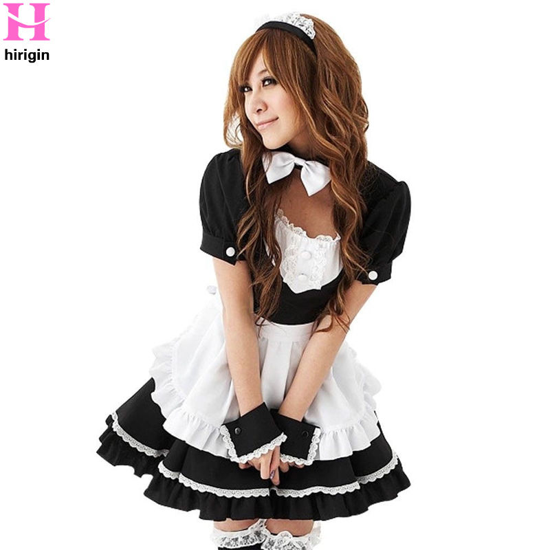 2018 Sexy Apron Dress Women Costume Lolita French Maid Outfit Cosplay Fancy Dress Uniform Hot