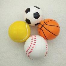 d85f3e6dc AntiStress Bola Alívio futebol Futebol Basebol Basquetebol Tênis De Espuma  de Borracha Macia aperto Bola Crianças