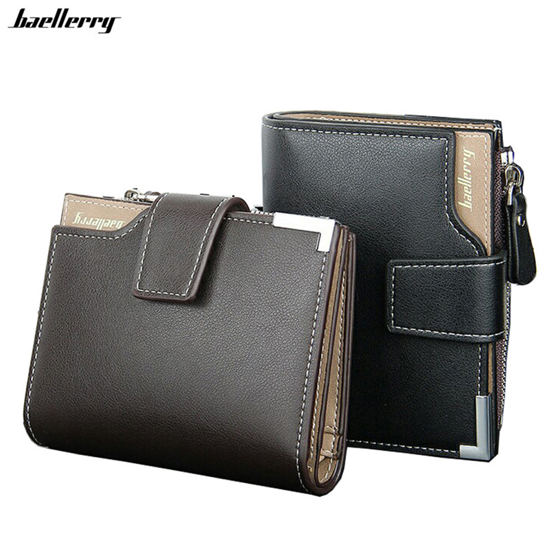 New 2017 Short Wallets Leather Brand Men Wallets Dollar Price Bifold Wallet Men Card Holder Coin Purse Pockets With Zipper dollar price women cute cat small wallet zipper wallet brand designed pu leather women coin purse female wallet card holder