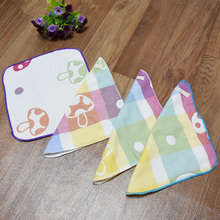 3 шт./лот, хлопок, для новорожденных, с грибами, квадратные хлопковые нагрудники, шесть маленьких марлевых носовых платков, детское полотенце для кормления, маленькое полотенце для лица