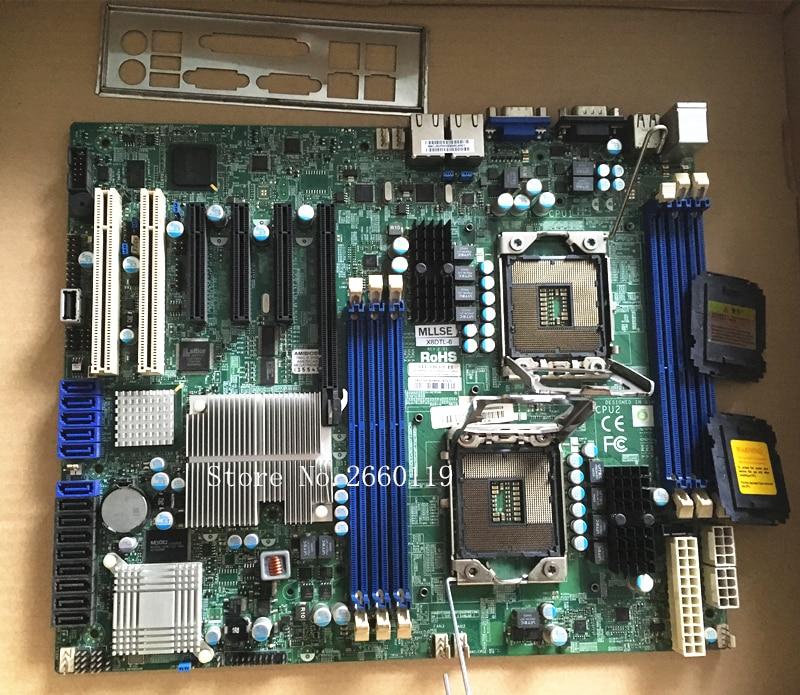 Placa de servidor para X8DTL-6 X58 1366 placa base totalmente INTEL XONE L5640 CPU INTEL L5640 procesador seis core 2,26 MHZ LeveL2 12M para lga 1366 montherboard