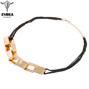 EVBEA Brand Gold Magic Cube Geometric Muliti Crystal Chocker Pendant Necklace Accessories For Women New Design