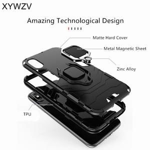 Image 4 - Vivo Y91 Case Shockproof Cover Hard PC Armor Metal Finger Ring Holder Phone Case For Vivo Y91 Protection Back Cover For Vivo Y91