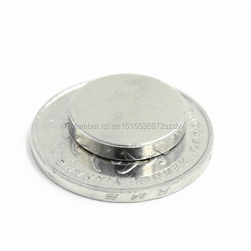 200pcs Strong Round Dia 16mm x 3mm N35 Rare Earth Neodymium Magnet Art Craft Fridge 16x3mm