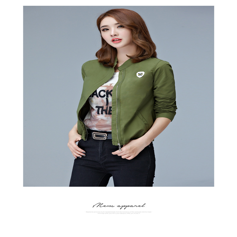 2017 spring new street coat parkas Army Green bomber jacket Women coat cool basic down jacket Padded zipper chaquetas biker out