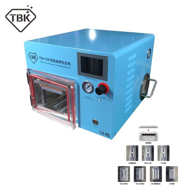 TBK-508 Courbe Écran De Laminage et Debubble Machine LCD Bord Machines À Plastifier Pour samcung S6 S7 S8 bord écran avec moules