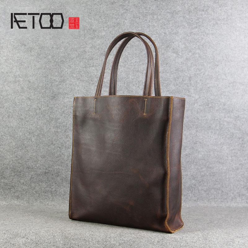 AETOO ручной работы оригинальная кожаная сумка женская сумка первый слой кожи сумка на ремне сумка для покупок и отдыха ретро