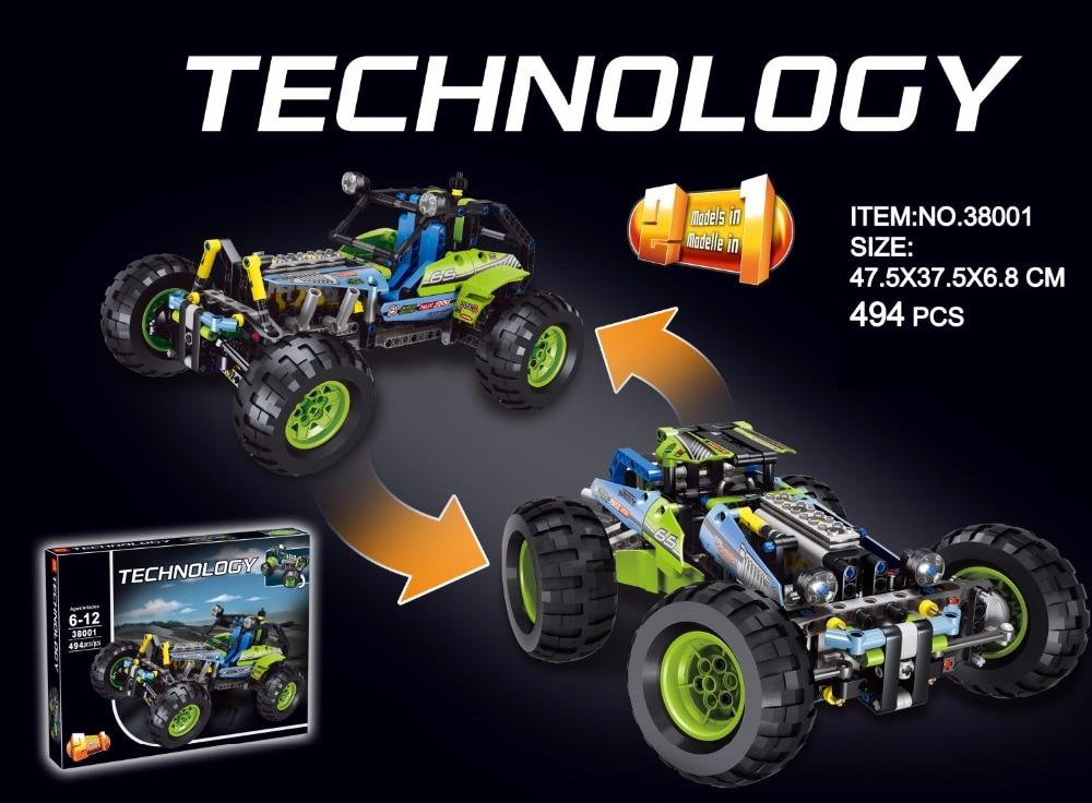 ФОТО Hot technology technics Formula one Off-Roader building block car-styling 2in1 model compatible lego42037 brick boys toys