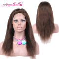 Angelbella Brazilian Long Wigs Safe Online Shopping Straight Hair Wigs #4 Brown 100 Human Real Hair Wigs Fashion Online Shop