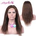 Angelbella comprar seguro en línea recta del pelo brasileño pelucas largas pelucas #4 marrón 100 del pelo humano real pelucas de moda online tienda