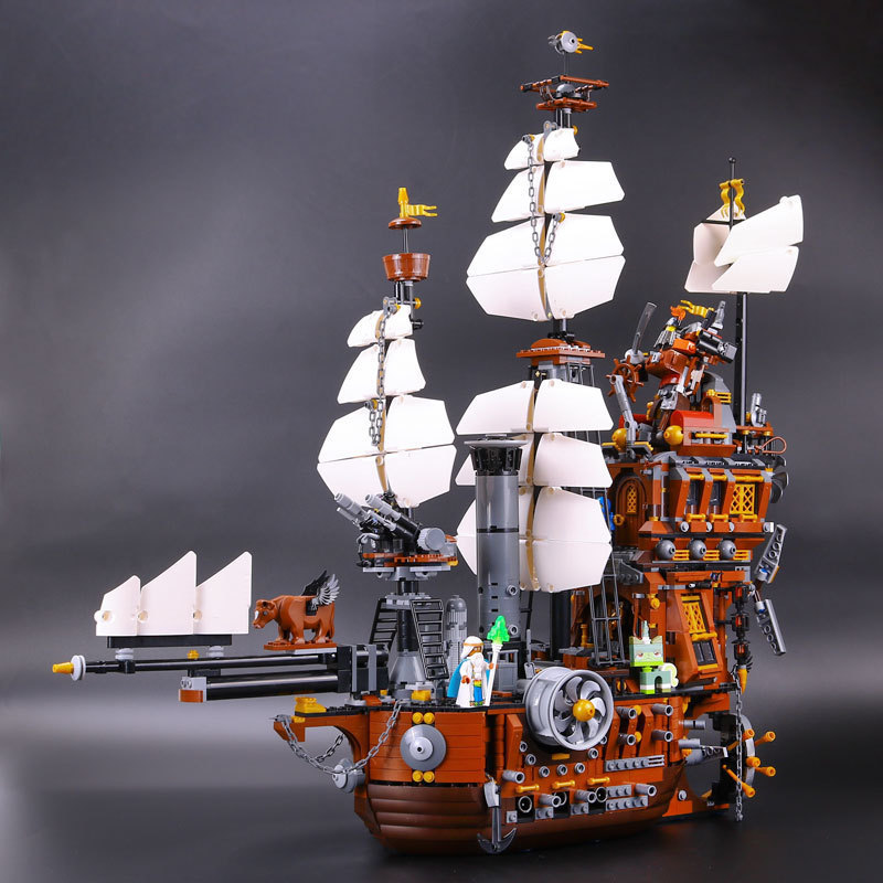 L Model Compatible with Lego L16002 2791PCS Ship Models Building Kits Blocks Toys Hobby Hobbies For Boys Girls pirate ship metal beard s sea cow model lepin 16002 2791pcs building blocks kids bricks toys for children boys gift compatible