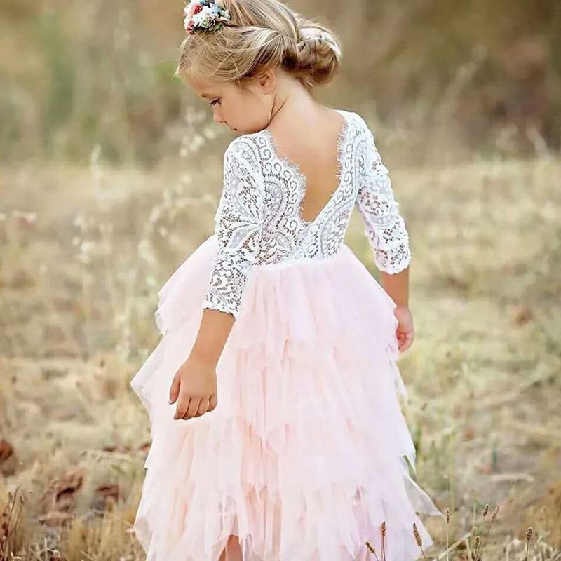 Bebé Niñas Vestidos Para Ceremonias De La Princesa Niños Fiesta De Boda Vestido De Tutú De Niñas Prendas De Los Niños Vestido De Traje Vestidos3 4 6