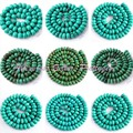 """FREE SHIPPING RONDELLE TURQUOISE SPACER LOOSE BEADS NATURAL STONES FOR DIY NECKLACE BRACELAT JEWELRY MAKING STRAND 15"""""""