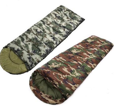 ФОТО 220*75CM Camouflage Single Sleep Bag Military Fans Envelope Sleeping Bag Outdoor Camping Sleeping Bag